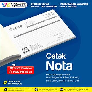 Cetak Nota Faktur, Formulir, Surat Jalan, Karcis Murah di Kebon Jeruk, Jakarta Barat