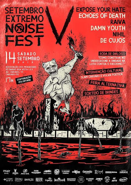 Setembro Extremo Noise Fest, divulgado cartaz com todas as atrações e informações da 5º edição.