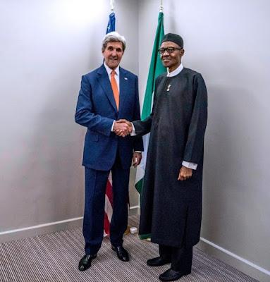 President Muhammadu Buhari, and U.S Secretary of State, John Kerry