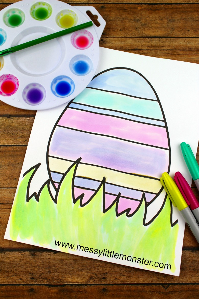 Easter egg colouring page - Easter activities for toddlers and preschoolers
