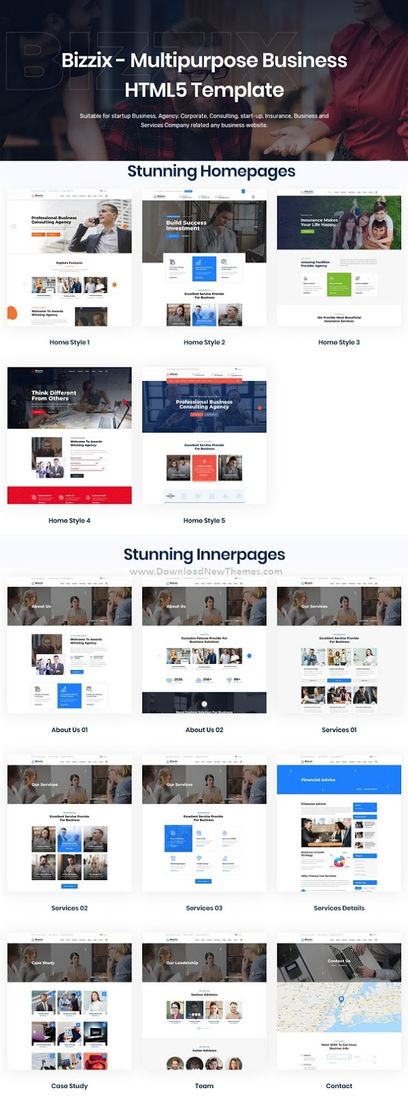 Bizzix - Multipurpose Business HTML5 Template