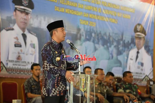 Adipati Harapkan Linmas Dituntut Bekerja Profisional Dalam Pelaksanaan Pemilu