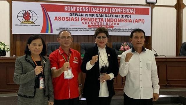 Hadiri Konferda API Sulut, Senator Maya Rumantir Sampaikan Harapan Ini