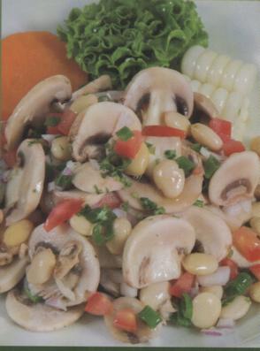 Ceviche de Tarhui y champiñones