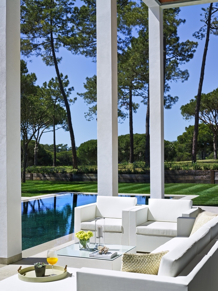 Terrace furniture in Simple modern home in Portugal