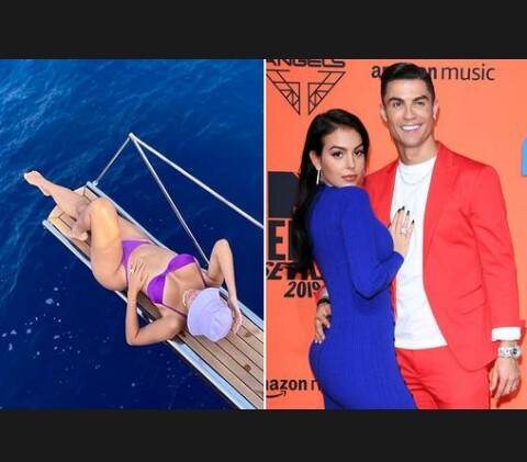Cristiano Ronaldo's girlfriend Georgina Rodriguez lounges in an exceedingly bikini on private yacht