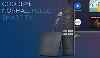 Motorola 4K Android TV stick price in India
