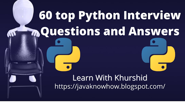 60 Python Interview Questions Answers