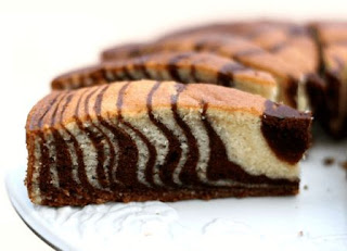 Cara Membuat  CAKE ZEBRA BINTIK COKELAT