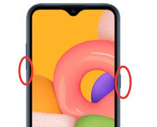 Screenshot dengan tombol