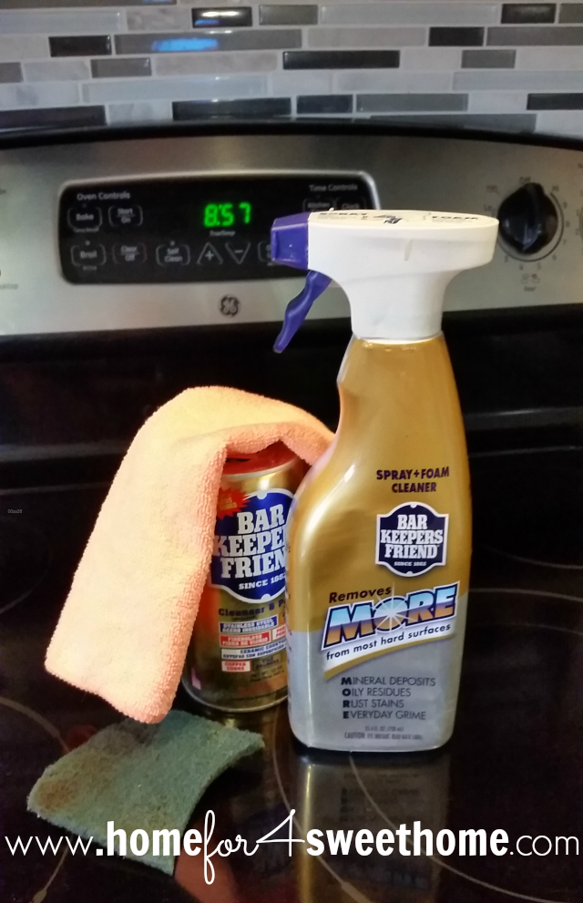 home for4 sweet home review cleaning your glass cooktop with bar keepers friend. Black Bedroom Furniture Sets. Home Design Ideas