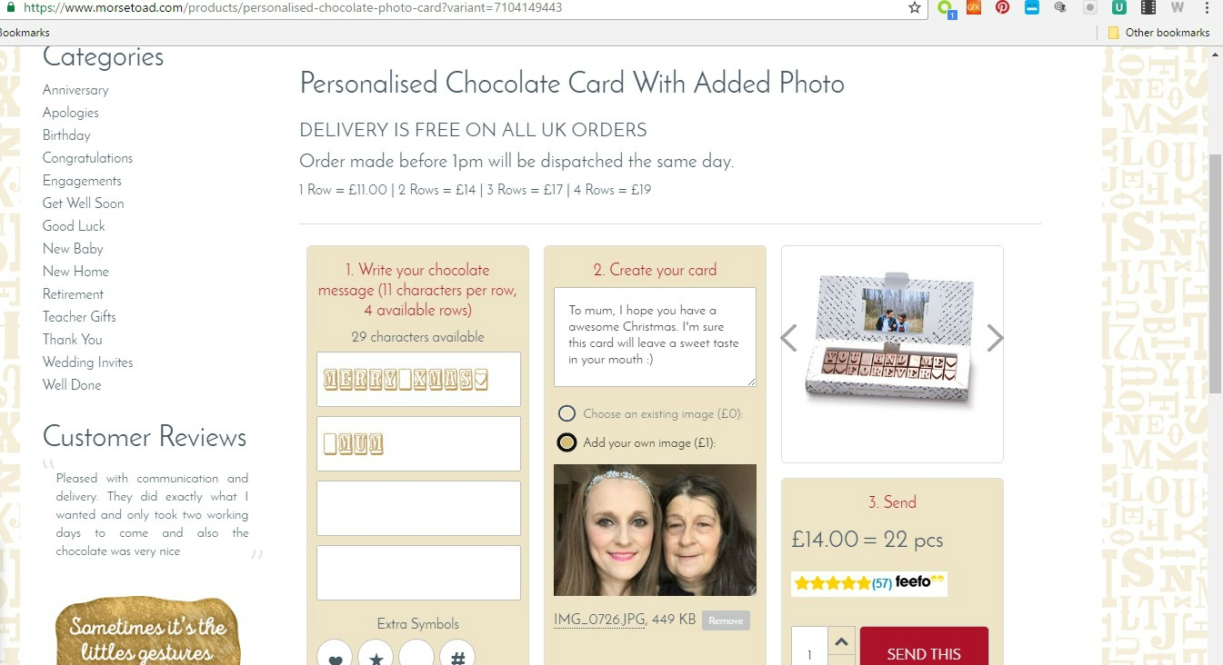 Surprise Your Loved Ones With Chocolate Greetings This Christmas