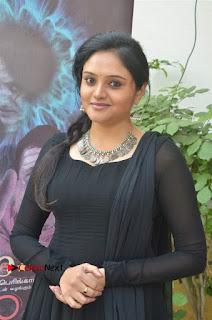 Actress Kala Kalyani Stills in Black Salwar Kameez at Engeyum Naan Iruppen Audio Launch  0004.jpg