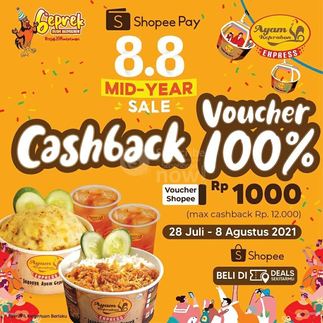 Ayam Keprabon Promo ShopeePay Voucher Cashback 100%