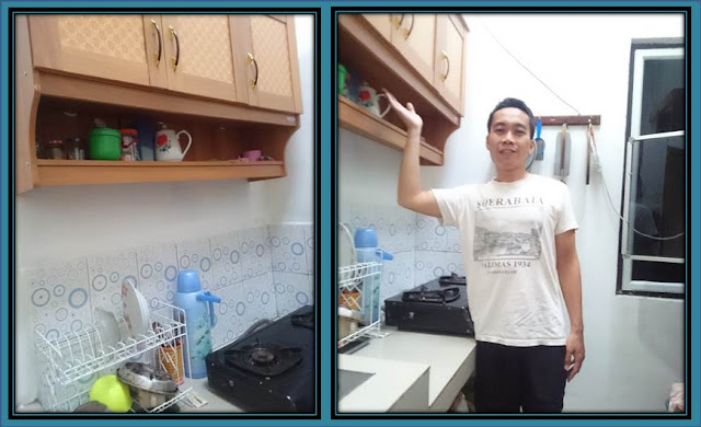 Memasang Rak Piring Gantung di Dapur Minimalis