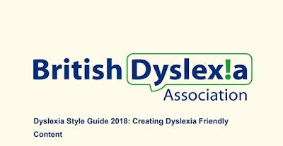 cabecera del PDF de la asociación británica de dislexia