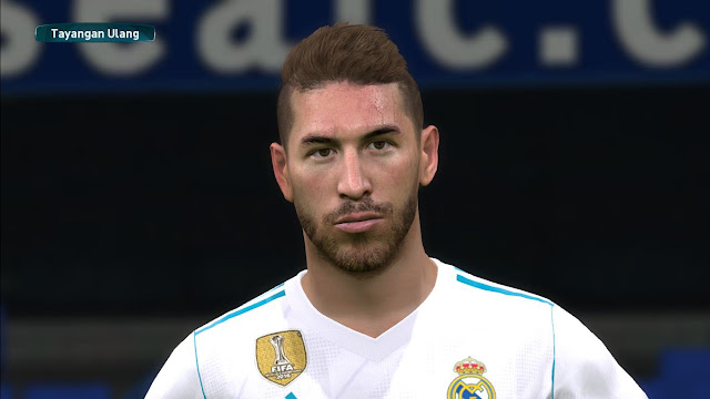 PES 2017 Sergio Ramos Face + Support Tattoo by Face Mod Pes ID