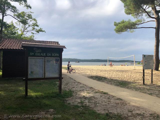 Playa de Ste. Eulalie en Born. Las Landas | www.caravaneros.com