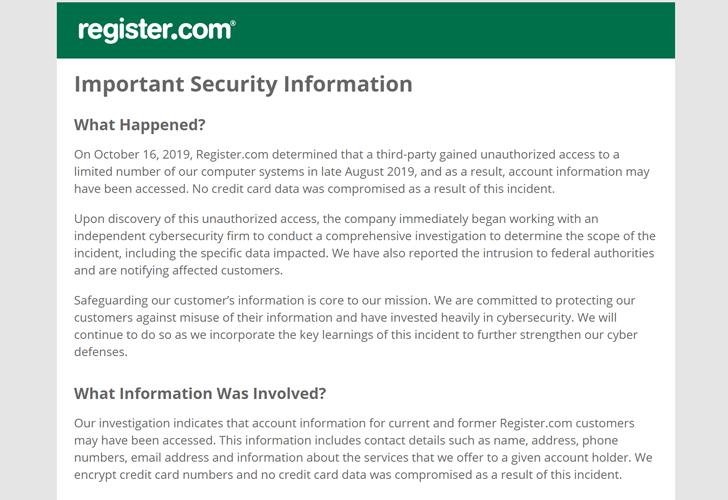 web domain registrar hacked