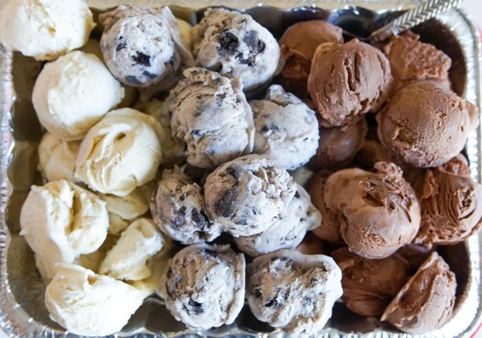 ice cream pre-scooped