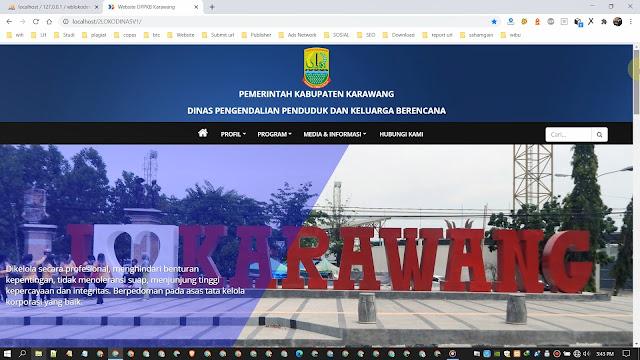 Website dan CMS Portal Informasi Pemerintah v1
