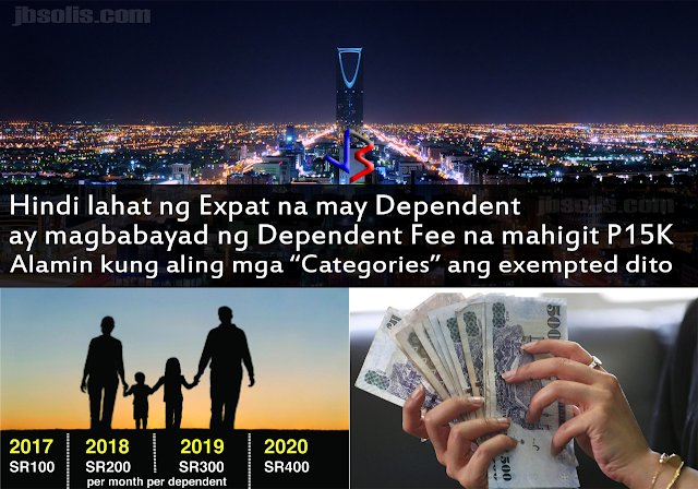 It's been three weeks since the Dependent Fee has been implemented for Saudi Arabia Expatriate workers who brought their families to live with them. Now it is becoming clearer on who are supposed to pay, and who are exempted from paying the dependent fee. Remember that the fees amount to SR100 per family member per month, but the payment must be done annually and in full. Once paid, it cannot be refunded as well, in case your family members go out of the country. Finally, the amount increases by SR 100 every year, up to 2020 where it will be SR 400 per dependent member per month.   This has caused many expats sending their families back home. But hope emerges for a certain few expats as more details emerge. A tweet in arabic has shown a list of expats exempted from paying the dependent fees. See it below. Here are the confirmed lists of expatriates exempted from paying dependent fees: An expatriate who is married to a Saudi Citizen: A citizen's wife and children are exempted from the dependent fee. Widows and divorced women who were married to a Saudi Citizen are also exempted. However, it is not clear if this remains true if the woman married an expat after her Saudi husband dies or is divorced.  In case where the Saudi citizen is the mother, the child is still exempted.   Long-term Residents Expatriate dependents who have stayed in Saudi Arabia for most of their lives are also listed as exempted from the dependent fees. The requirement is that they must not have traveled to any country outside the kingdom for the last 40 years!   Foreign Students Foreign students who are currently studying in Saudi Arabia are exempted from paying dependent fees. To clarify, these are students whose visa states that they are in the kingdom as students. These do not include children sponsored by their parents and are merely studying as well.   Expatriates Working in the Government Sector Expats whose sponsors are a part of government are not required to pay the dependent fees. This is most welcome news for many OFWs since many Filipinos are working in the different Saudi government hospitals, schools and offices.  To further verify the news, we asked some OFWs to check their banking information - if it indeed shows no requirements for dependent fees. See the screenshots after the video.  Also, employees who are working in the government sector, but were supplied through a private contractor are not exempted.  While the Saudi Government has full rights to craft and implement their own policy, the effects of these policies cannot be easily controlled. The dependent levy is expected to enrich the kingdom's coffers, but what about the effect to the local market. Some economists argue that the gross outcome of the move will not be beneficial at all for the national economy because in the first year after the imposition of the new tax at least 1 million expats, 75 percent of them dependents, are likely to leave the Kingdom. These 1 million foreigners used to spend their money inside the Kingdom to purchase goods and services, pay rent as well as some ministry fees like exit/reentry visas. Now, they will send 50-80% of their salaries back home, reducing liquidity in the local market.  Whatever the policy may be, both Saudi nationals and expats hope for a brighter future for the Kingdom of Saudi Arabia.