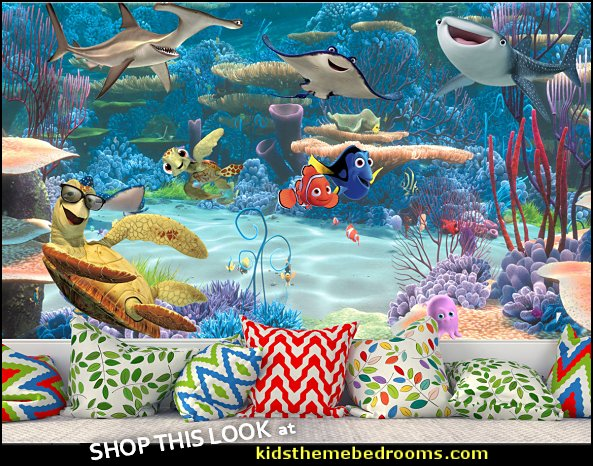 Finding Nemo Wall Mural, Dory and Nemo Wallpaper