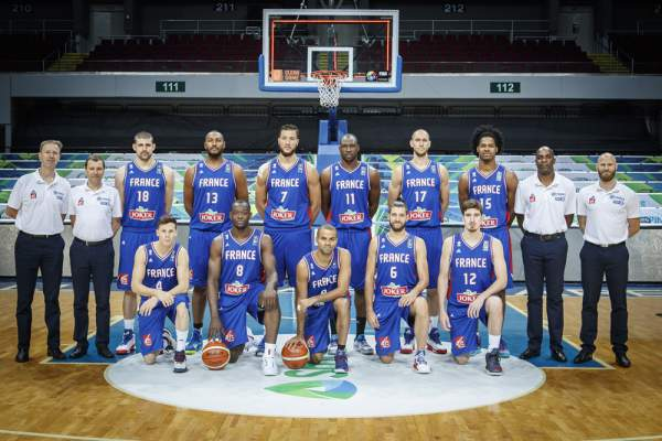 France Men's Basketball Team Line-up (Roster). Image courtesy of FIBA.com