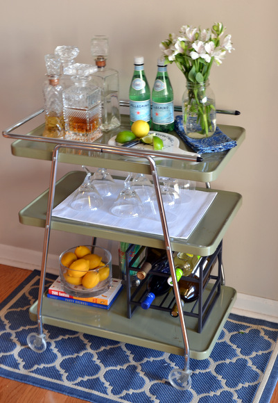 We're so happy with how this bar cart came together, and it was so easy!