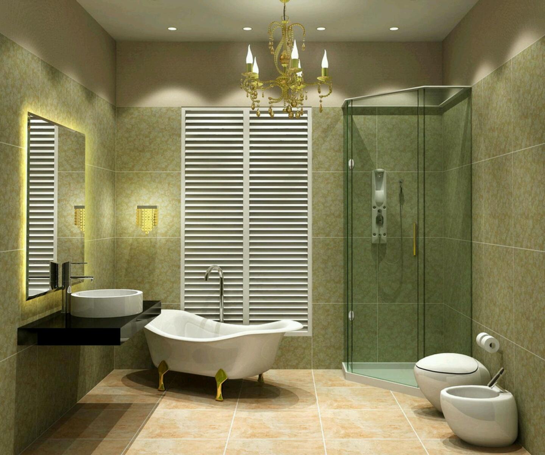 Modern simple bathroom design home decorating for Modern simple bathroom design