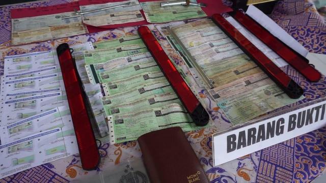 Sindikat Pemalsu STNK Di Cianjur Ditangkap Polisi