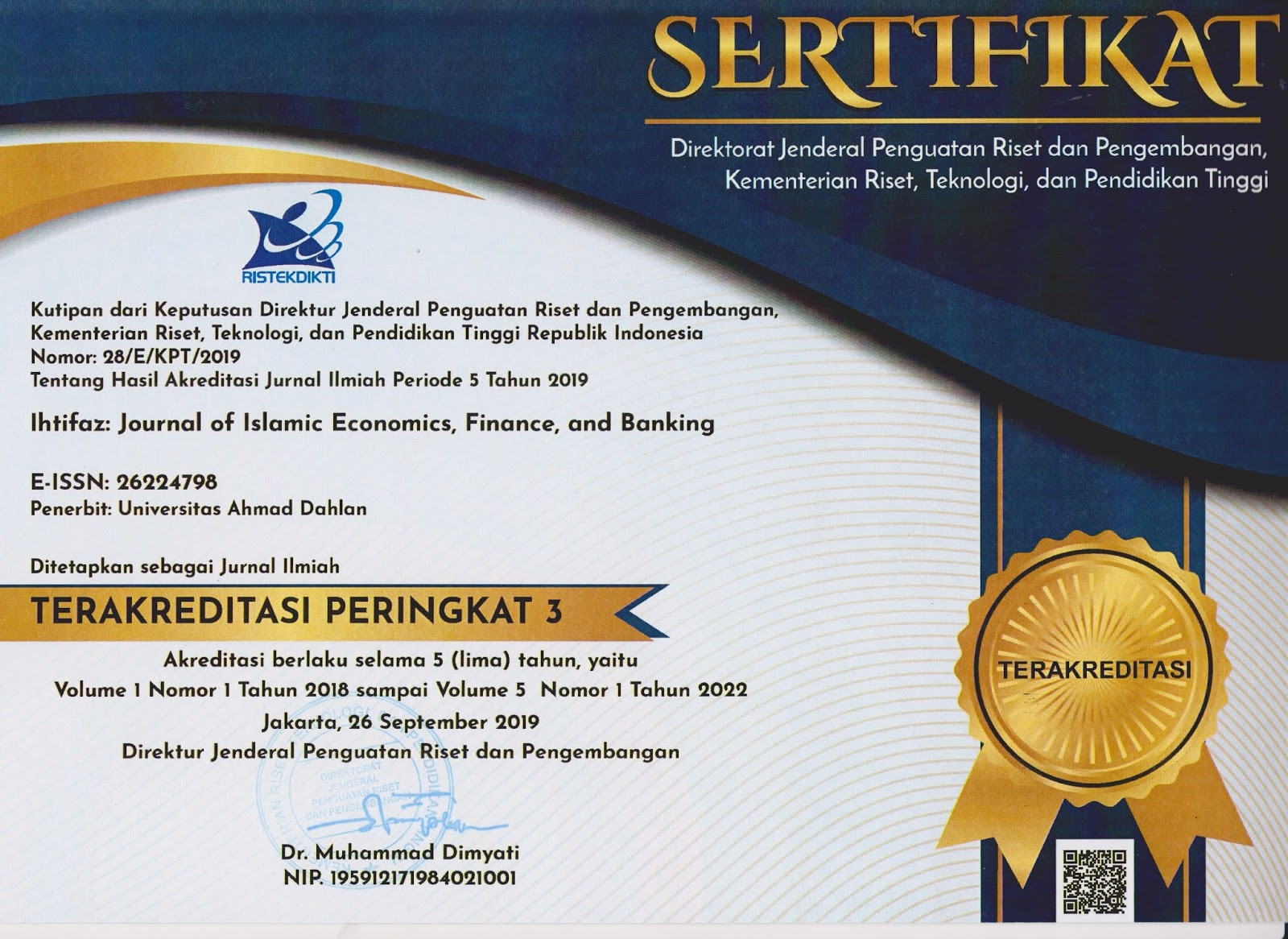 Certificate IJEME