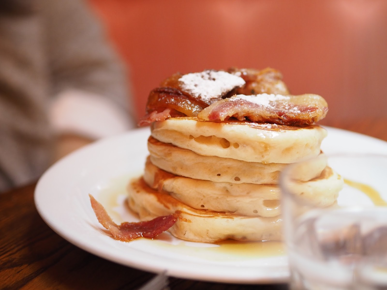 The Breakfast Club Bacon and Maple Syrup Pancakes