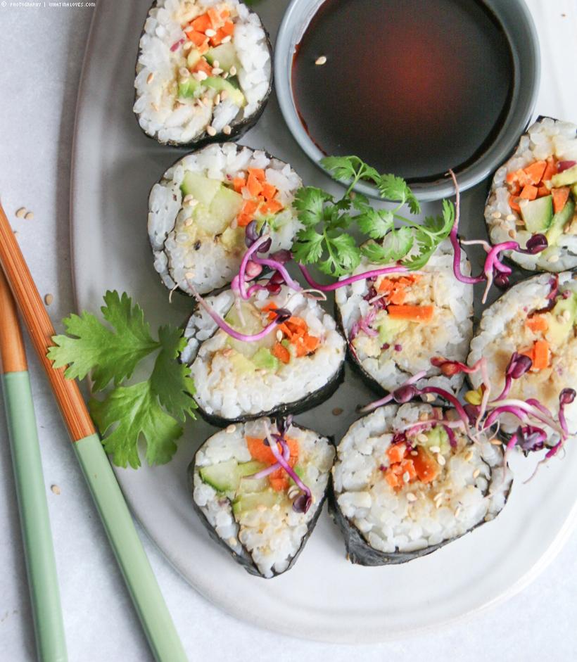 veganes Sushi mit Thunfischcreme