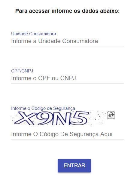 Página de acesso a  Agência Virtual da Equatorial energia Alagoas