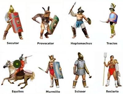 Tipos de Gladiadores Romanos