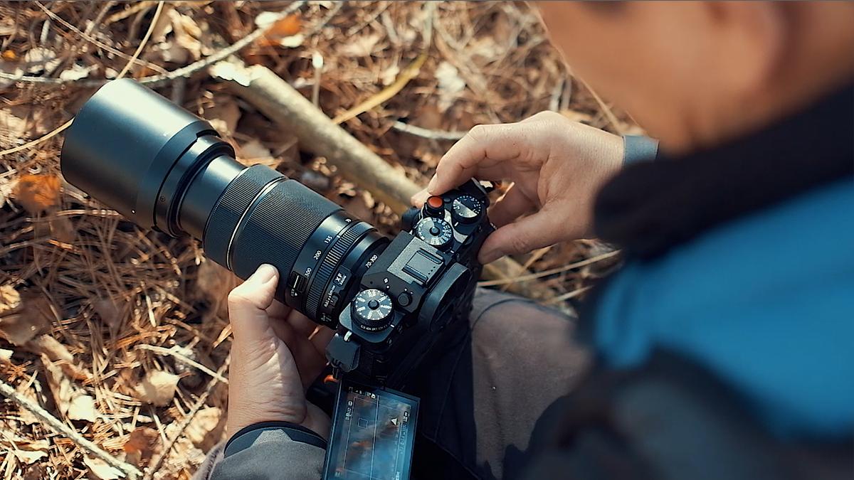 Fujinon XF 70-300mm f/4-5.6 R LM OIS WR с камерой Fufjifilm