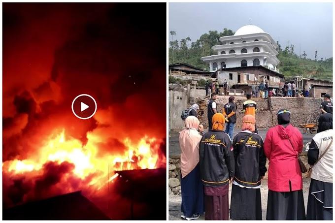 Bonjor yang Tenang Dilalap Si Jago Merah, PKS Temanggung Bergerak Membantu Korban