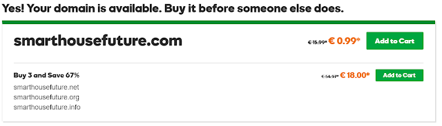 Domain registration example GoDaddy