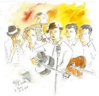 A Little Beat Blues Band - Croquis de Matyl