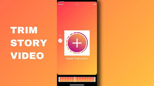 Trim video on Instagram story