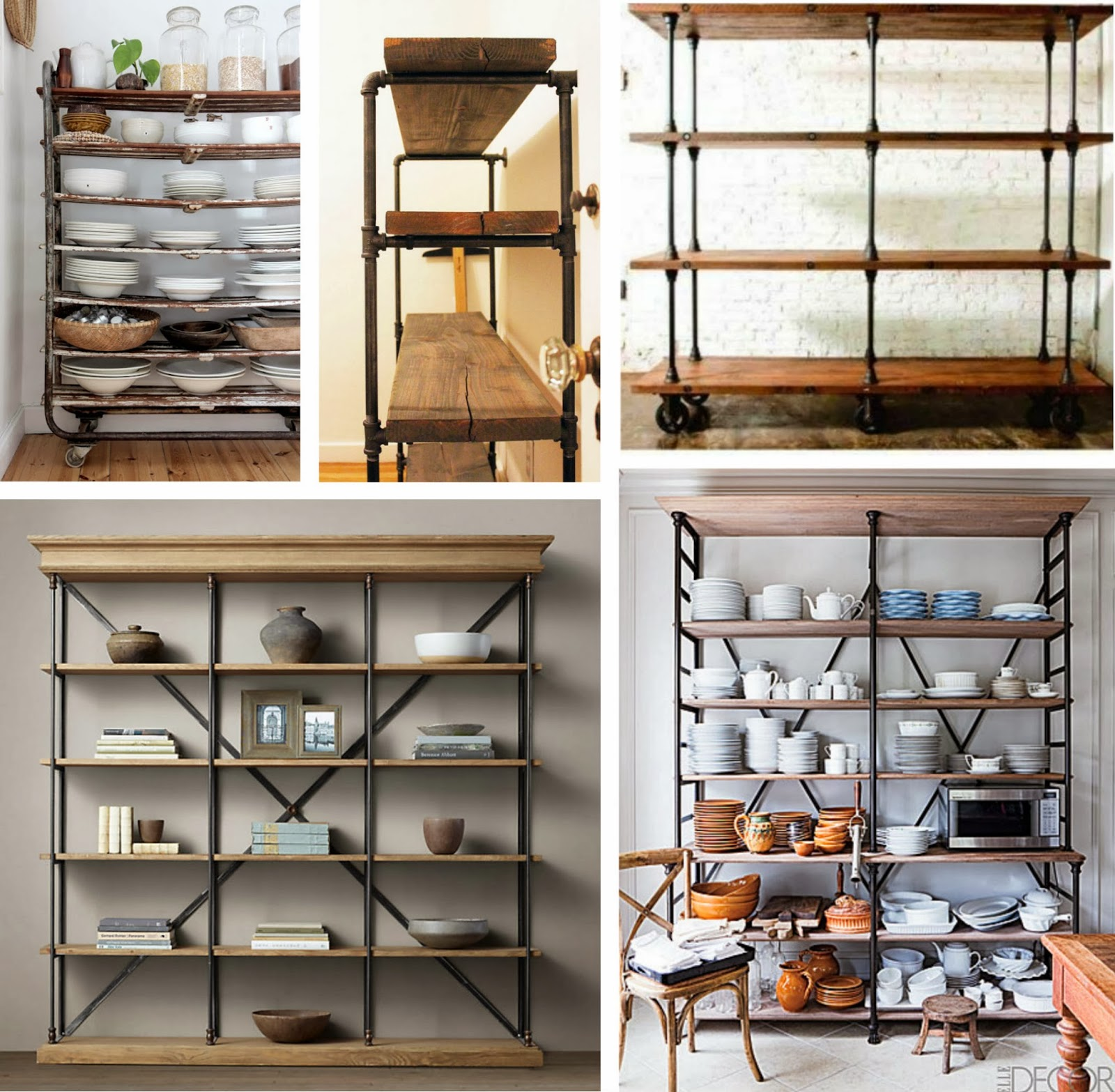 Open Metal Shelving Kitchen Low Cost Cabinets Five Favorites Industrial Andchristina
