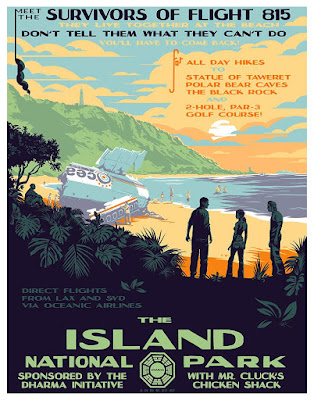 "LOST ""The Island National Park"" Charity Variant Timed Edition Print by Mark Englert x Bottleneck Gallery"