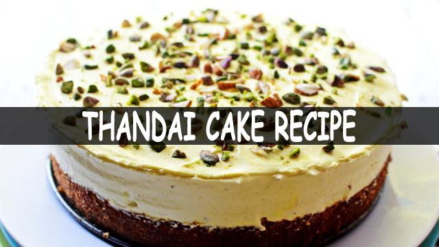 How To Make Thandai Cake | Thandai Cake Recipe | Cake Recipe