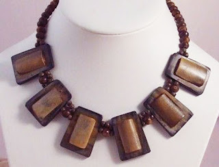 Wood bone natural necklace
