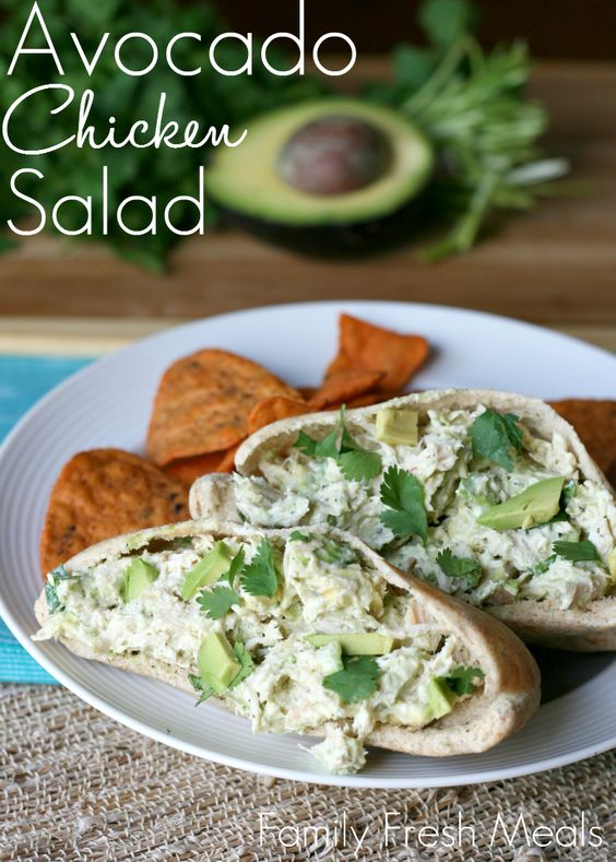 Healthy Avocado Chicken Salad #recipes #tasty #tastyrecipes #food #foodporn #healthy #yummy #instafood #foodie #delicious #dinner #breakfast #dessert #lunch #vegan #cake #eatclean #homemade #diet #healthyfood #cleaneating #foodstagram