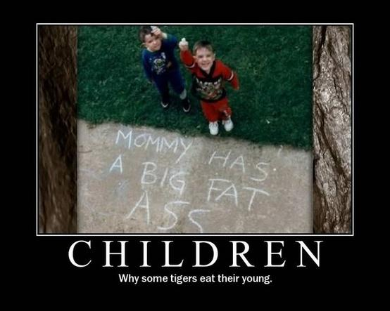 Funny Children Picture - Why some tigers eat their young
