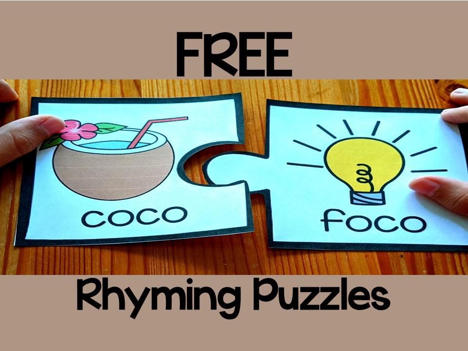FREE Rhyming Words in Spanish- Juego de rimas