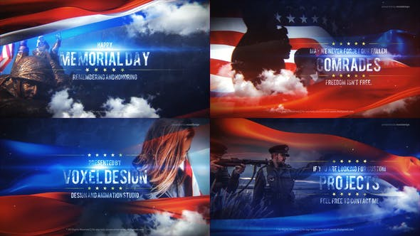 Memorial Day Title : After Effects Template