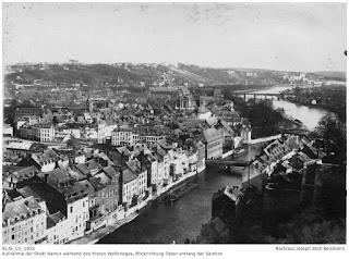 Namur 1914-1918, Blick von der Festung in Richtung Osten entlang der Sambre; Nachlass Joseph Stoll Bensheim, Stoll-Berberich 2016